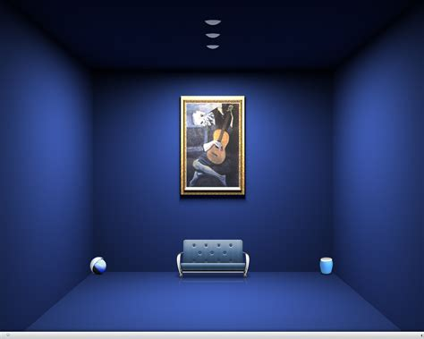add sophistication  room  blue wall color