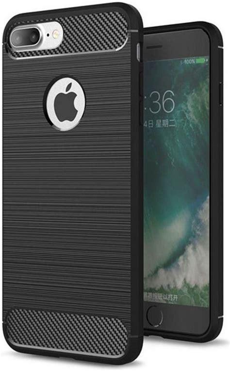 bolcom apple iphone   geborsteld tpu hoesje zwart