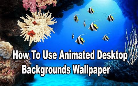 How To Use Animated Wallpaper - computer par live animated desktop background wallpaper