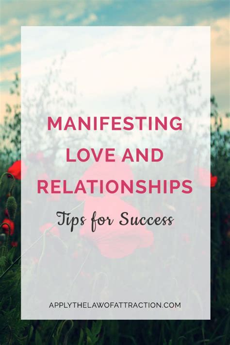 manifesting love  relationships tips  success relationship quotes law  attraction
