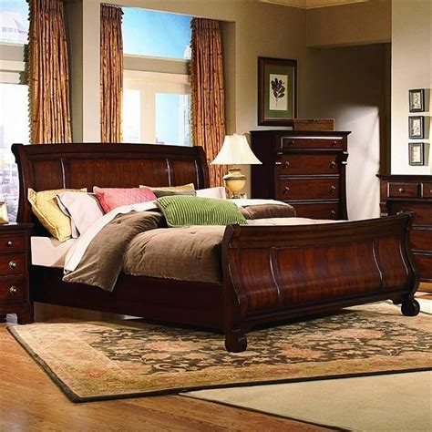 kathy ireland home king sleigh bed nebraska furniture