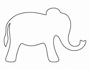 Simple elephant pattern use the printable outline for for Elephant template for preschool