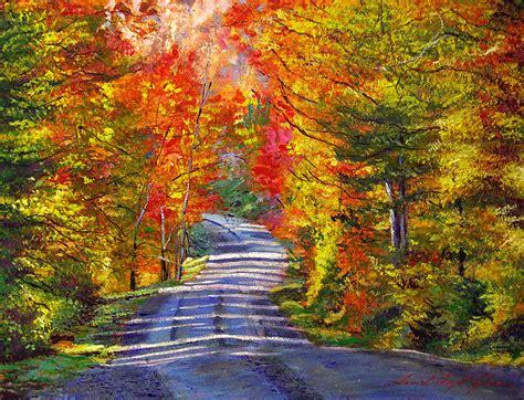 autumn roads painting  david lloyd glover