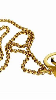 Vintage CHANEL Heart Logo Necklace For Sale at 1stdibs