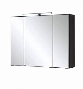 Spiegelschrank Bad 50 Cm Breit : bad spiegelschrank 3 t rig mit led aufbauleuchte 80 cm breit graphitgrau bad spiegelschr nke ~ Bigdaddyawards.com Haus und Dekorationen
