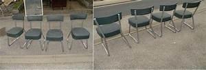 Chaise Bureau Industriel : 4 chaises de bureau industriel pullman a sprin filled 1960 ~ Teatrodelosmanantiales.com Idées de Décoration