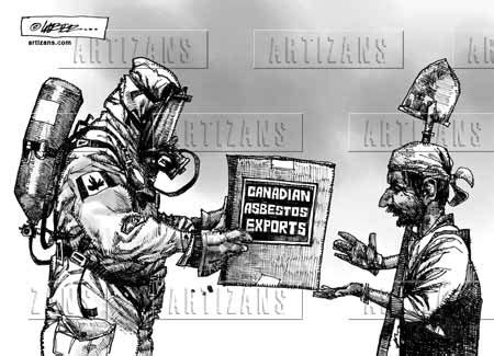 stop  mining  exporting  asbestos  green