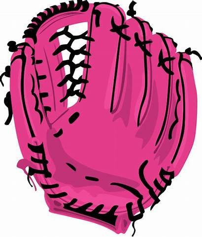 Glove Baseball Softball Clipart Clip Mitt Drawing
