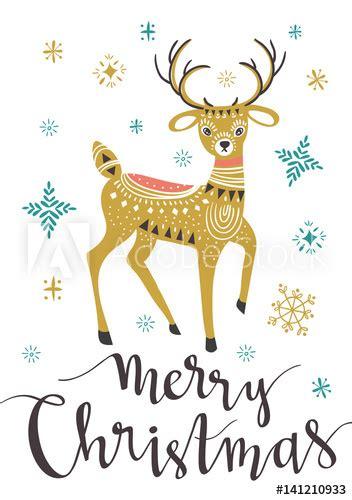 """Christmas deer Template for Greeting Scrap booking"