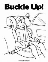 Safety Seat Coloring Pages Summer Safe Sheets Belt Buckle Child Print Week Drawing Keeping Road Children Baby Cars Traffic Colouring sketch template
