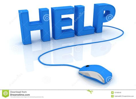 Help With Computer Mouse Stock Illustration. Image Of