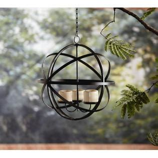 outdoor candle chandelier garden oasis candle sphere chandelier outdoor living