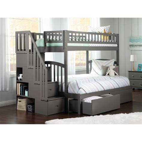 Choose from contactless same day delivery, drive up and more. Westbrook Staircase Bunk Twin over Full with 2 Urban Bed ...