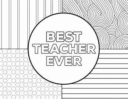Teacher Coloring Appreciation Thank Ever Sheets Printable
