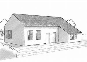 Plan 3d Salle De Bain : plan maison 3 chambres et 2 salles de bain ooreka ~ Melissatoandfro.com Idées de Décoration