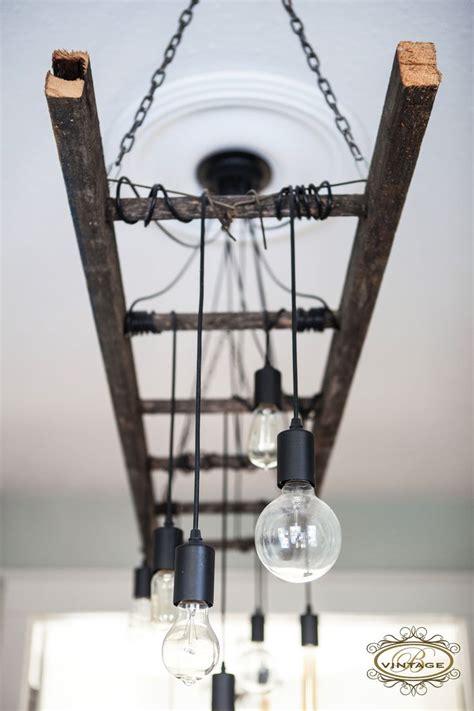 edison chandelier edison bulb ladder light industrial