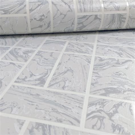 vinyl wallpaper bathroom nz holden decor marble tile pattern faux effect kitchen