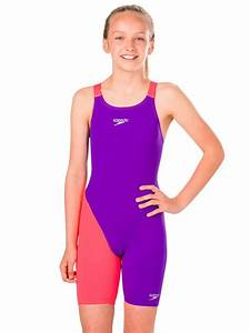 Speedo Fastskin Junior Endurance Purple Red Girls