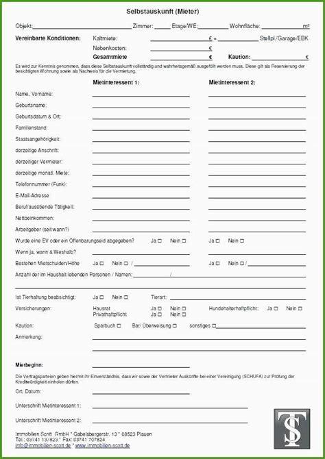 Selbstauskunft Wohnung Formular by Mieterselbstauskunft Vorlage Word Ziemlich Wohnung