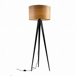 Trépied En Bois : lampadaire tr pied bois k lla koya design ~ Teatrodelosmanantiales.com Idées de Décoration