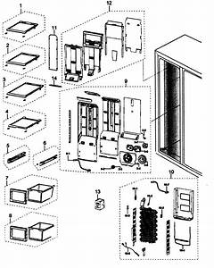 Freezer Diagram  U0026 Parts List For Model Rs265tdpnxaa