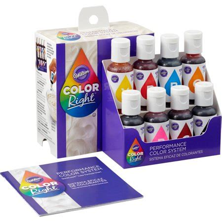 food coloring walmart wilton color right performance food coloring set 8