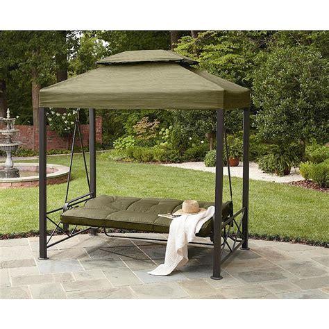 canapé swing outdoor 3 person gazebo swing lawn garden deck pool patio