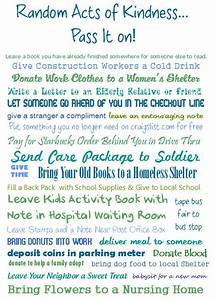 Random acts, Acts of kindness and Ideas on Pinterest
