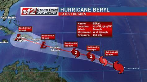 Hurricane Beryl strengthens | WPEC