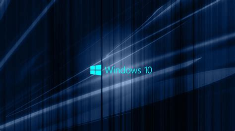 Windows 10 Wallpaper by Windows 10 Wallpaper With Blue Abstract Waves Hd