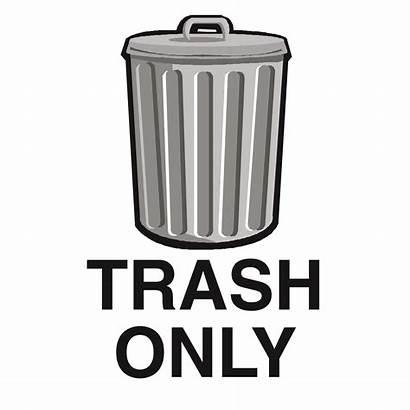 Trash Sign Clipart Garbage Clip Signs Symbol