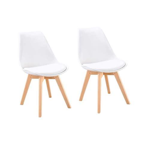 chaises rembourrées bjorn lot de 2 chaises scandinaves de salle à manger