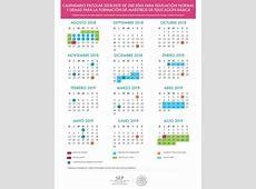 Aquí está el Calendario Escolar para el Ciclo Escolar 2018