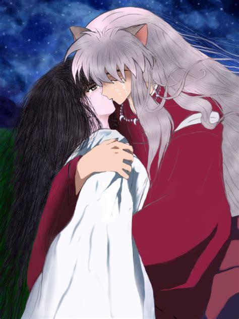 Kiss Anime Mobile Inuyasha Tears In Heaven Inuyasha Kikyou Forever By