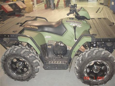 polaris mv  sportsman military version  hull