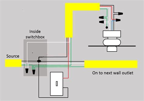 Fan Lighting Diagram by Switched Outlets To Ceiling Fan Wiring Doityourself