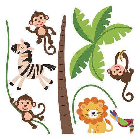 stickers muraux animaux de la jungle stickers muraux animaux sticker jungle heureux ambiance sticker