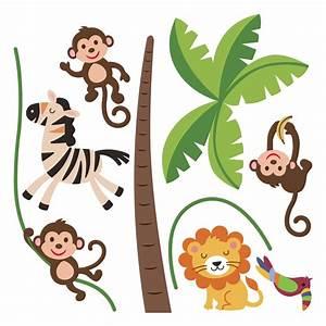 Stickers Animaux De La Jungle : stickers muraux animaux sticker jungle heureux ambiance ~ Mglfilm.com Idées de Décoration