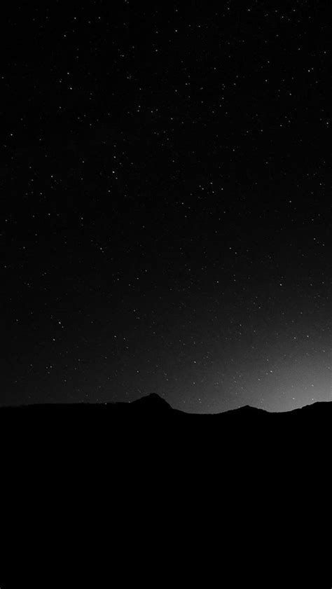See more of black & white wallpapers on facebook. Dark Night Sky Silent Wide Mountain Star Shining #iPhone #5s #wallpaper   Wallpaper iphone