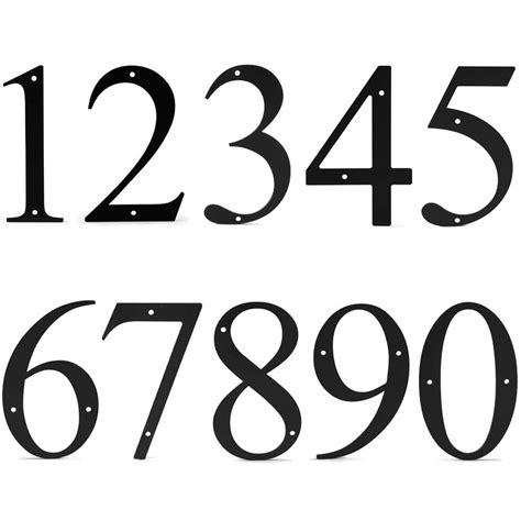 Hausnummer Schablonen Vorlagen by 6 Inch Metal House Numbers 0 9 Wrought Iron Black