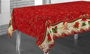 Nappe De Noel : nappe de table no l avec designs et dimensions assortis groupon ~ Teatrodelosmanantiales.com Idées de Décoration