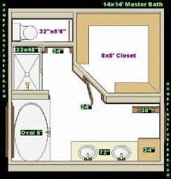 Water to Master Bathroom Floor Plans with Closets