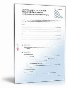 Ehevertrag Wann Abschließen : ehevertrag verzicht auf nachehelichen unterhalt ~ Lizthompson.info Haus und Dekorationen