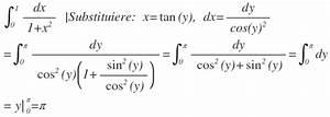 Integration Berechnen : substitution berechnen sie die stammfunktionen von f x lnx x g x 1 1 x 2 und h x x ~ Themetempest.com Abrechnung
