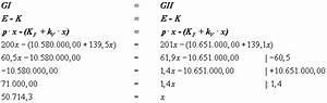 Variable Stückkosten Berechnen Formel : kostenrechnung gewinnvergleichsrechnung ~ Themetempest.com Abrechnung