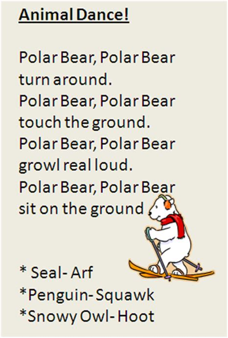 polar animal movement song my one and two year olds 830 | 7a63567bdaeeec624316250e45183578