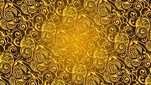 Gold pattern wallpaper digital art wallpapers