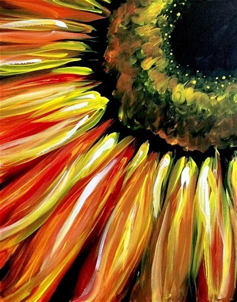 paint nite fiery sunflower