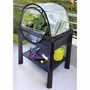 Jardiniere Sur Pied Plastique : jardini re sur pieds anthracite serre 80 litres ~ Dode.kayakingforconservation.com Idées de Décoration