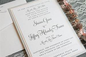 blush pink and silver diy classic formal pocket wedding With classy formal wedding invitations